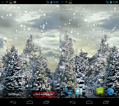 snow live wallpaper wallpapersafari