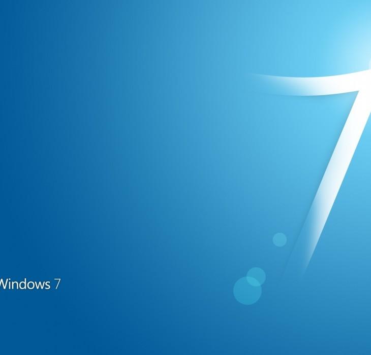 Windows 7 Blue Background