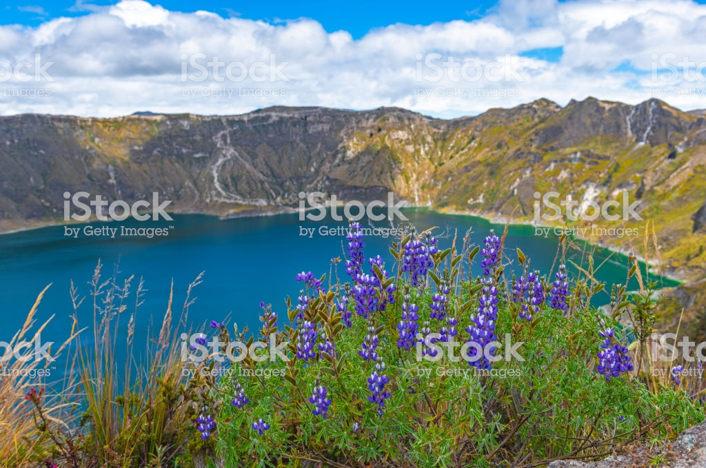 Quilotoa Volcanic Crater Ecuador Stock Photo   Download Image Now 1024x679