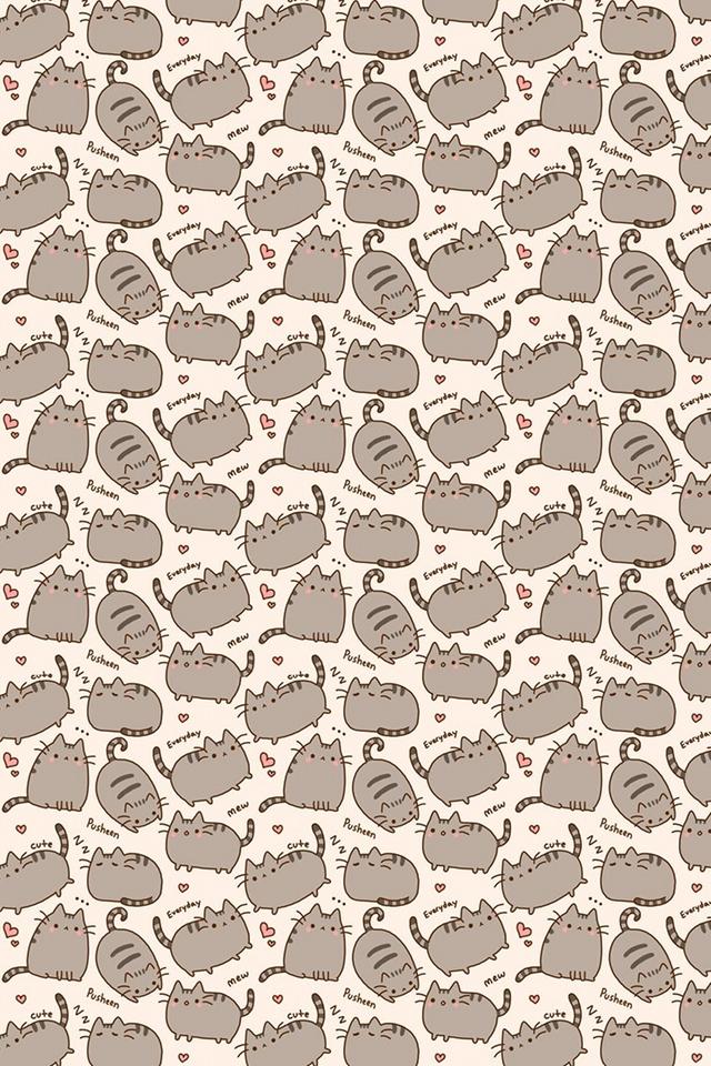 Desktop Wallpaper Pusheen 640x960
