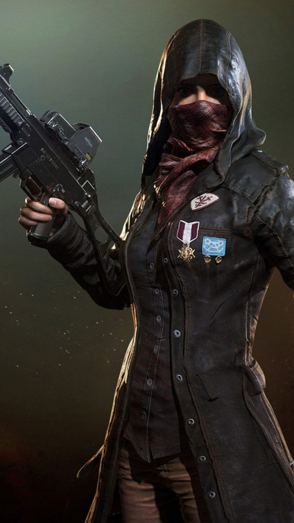 PUBG Female Player In Mask Pubg Hd wallpapers for mobile 950x1689