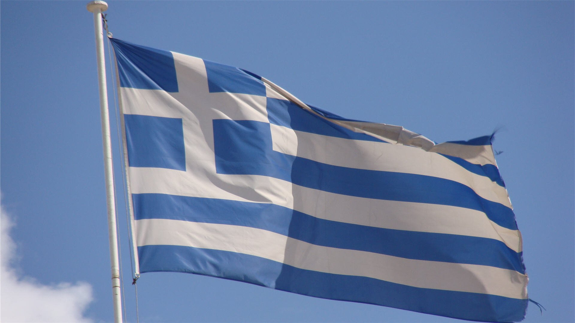 Greek Flag Waving Wallpaper HD 1920x1080 6403 1920x1080