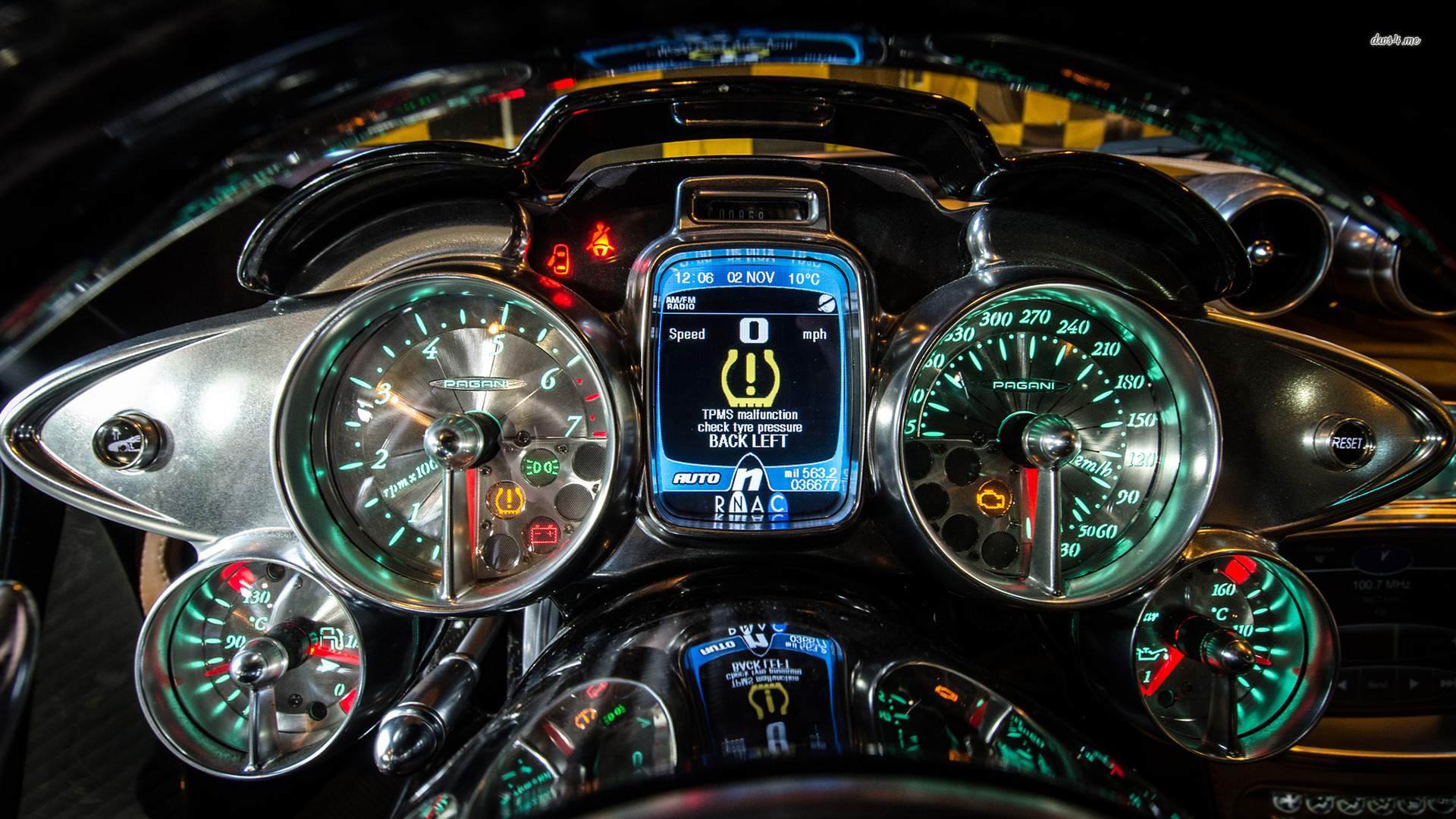 Pagani Huayra gauges wallpaper   974994 1920x1080