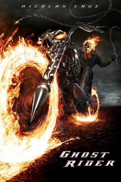 Nicolas Cage Ghost Rider Movie iPhone HD Wallpaper 516x774