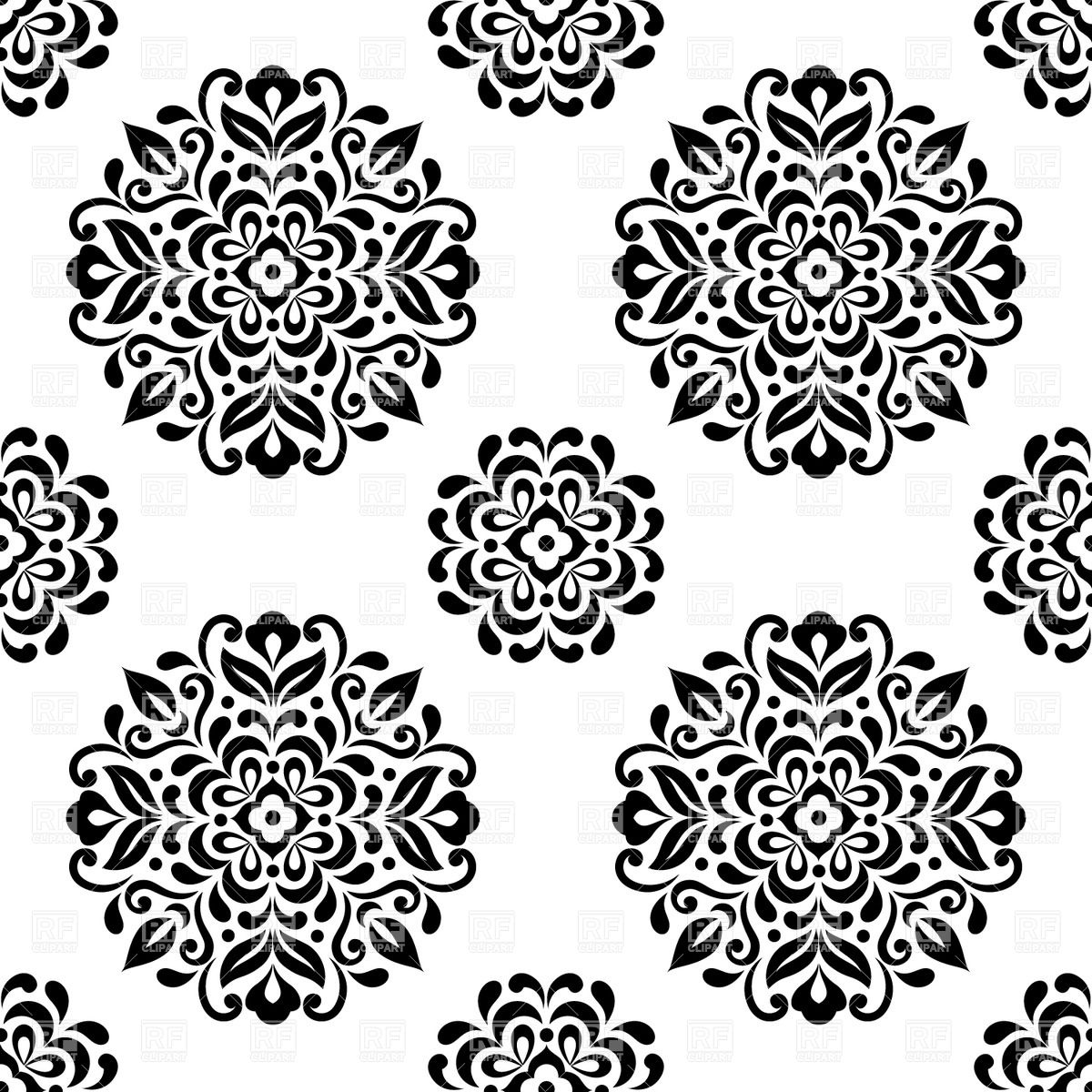 Go Back Images For Mandala Black And White 1200x1200