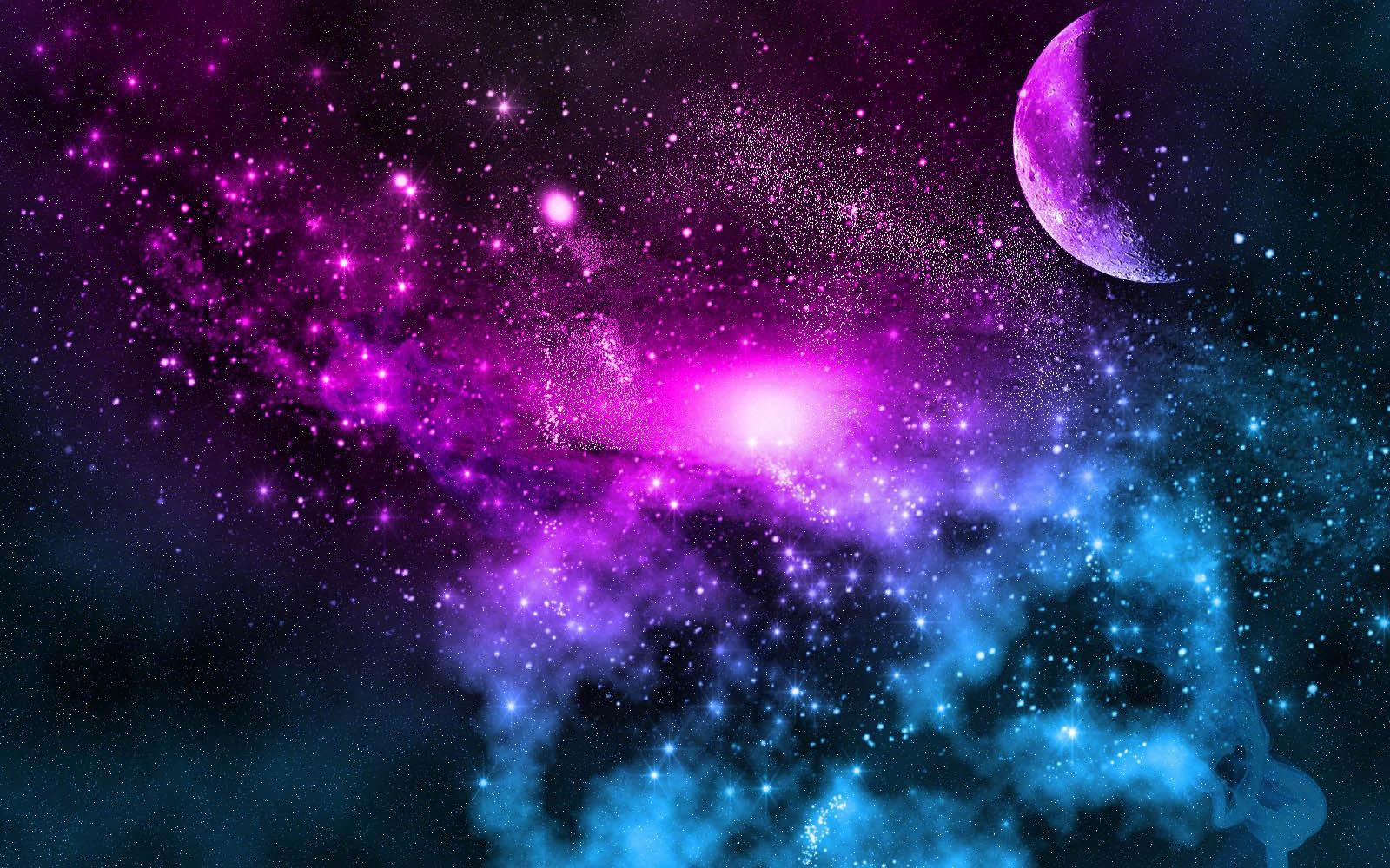 Beautiful Moon Galaxy Wallpaper Hd   1600x1000 iWallHD   Wallpaper HD 1600x1000