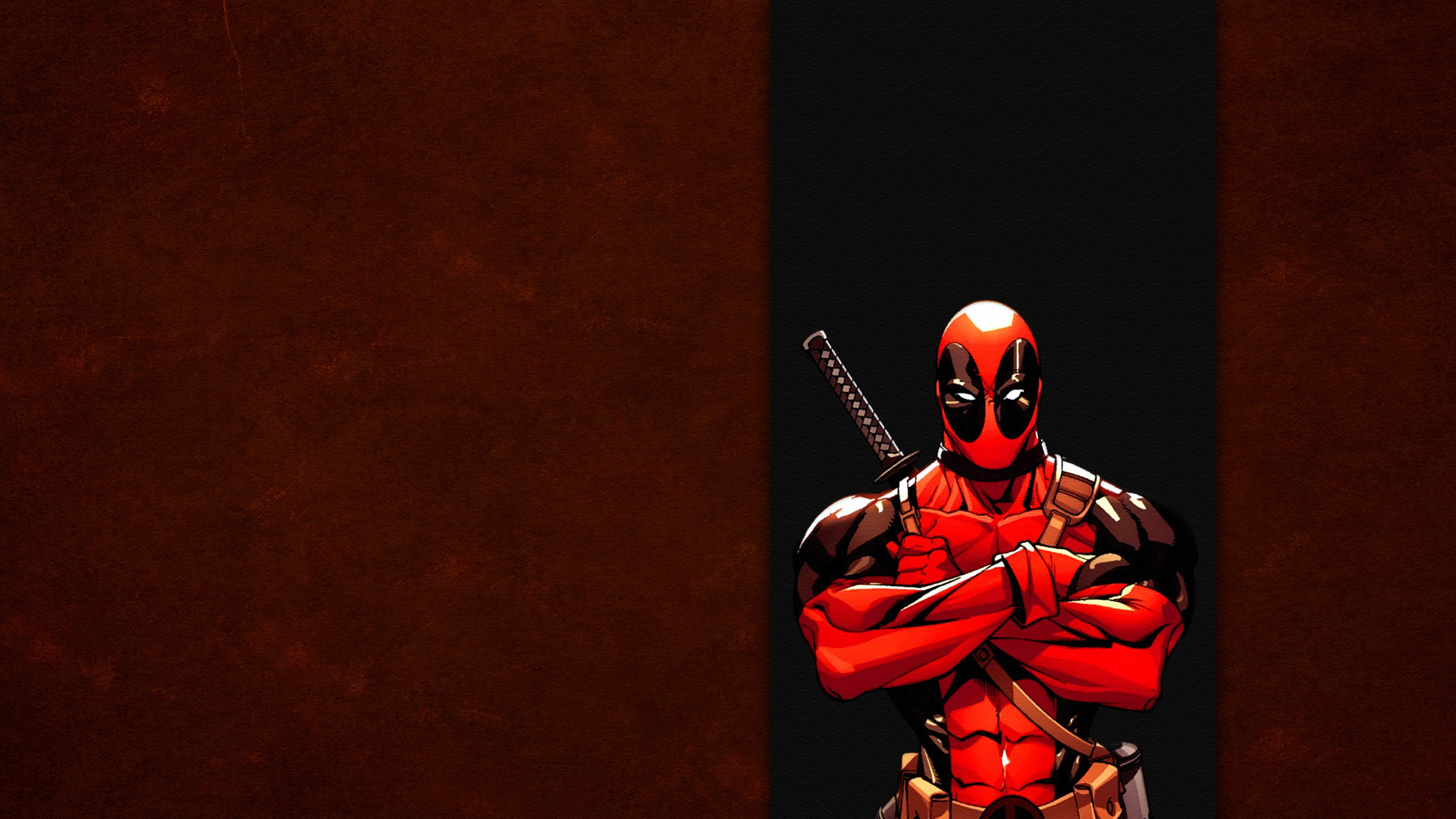 Red Wade wilson Marvel Band Wallpaper Background 4K Ultra HD 3840x2160