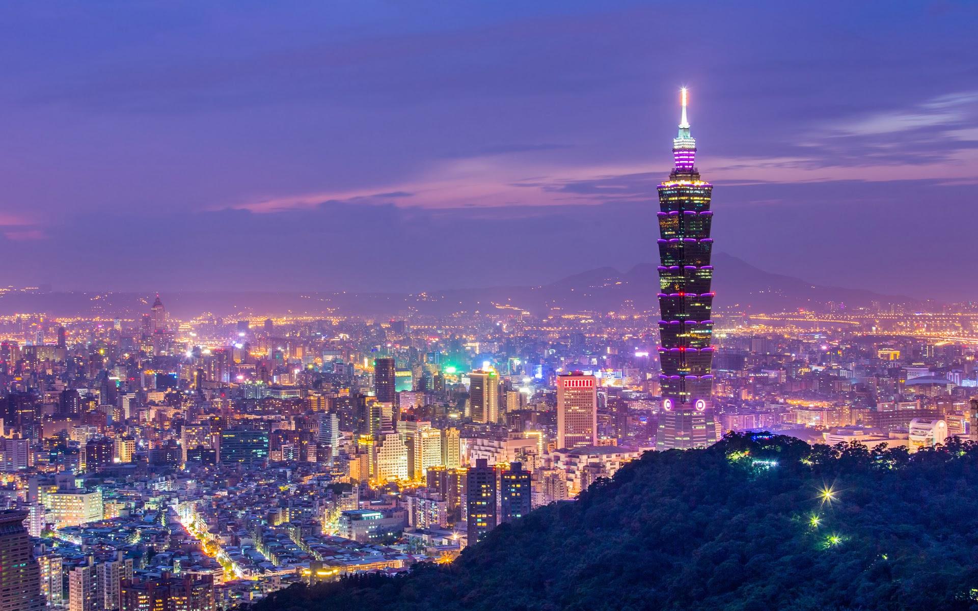Taipei 101 City View Wallpaper   Travel HD Wallpapers 1920x1200