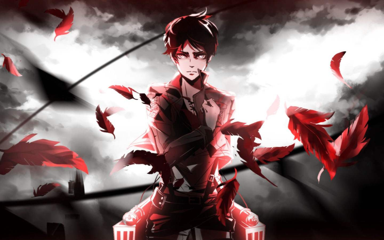 Eren Jaeger Salute Attack on Titan Shingeki no Kyojin Anime Wallpaper 1440x900