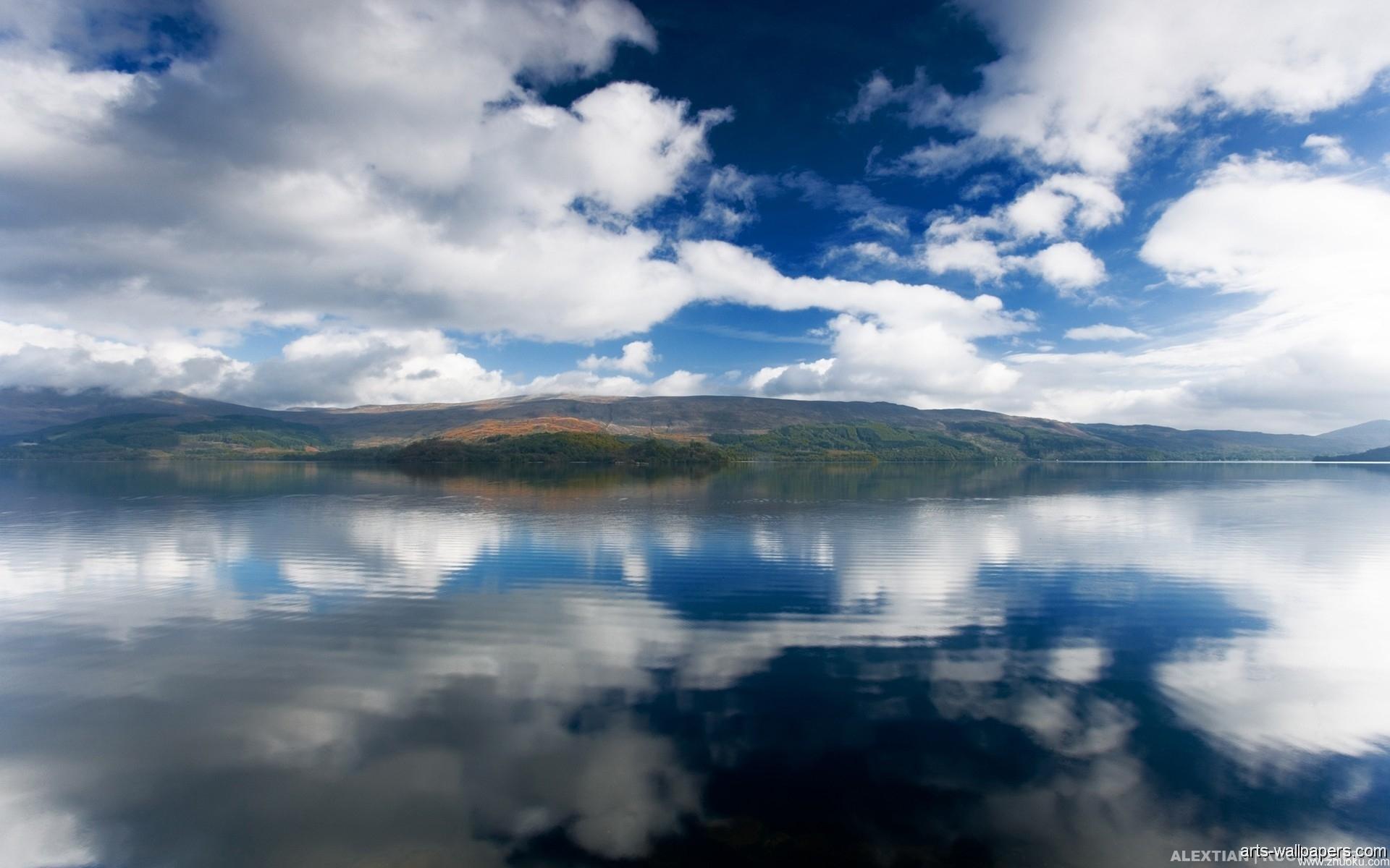 Природа облака небо река  № 2558934 бесплатно