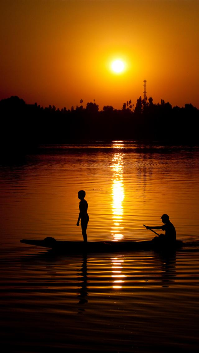 beautiful sunset sea scenery wallpaper hd for iphone 640x1136