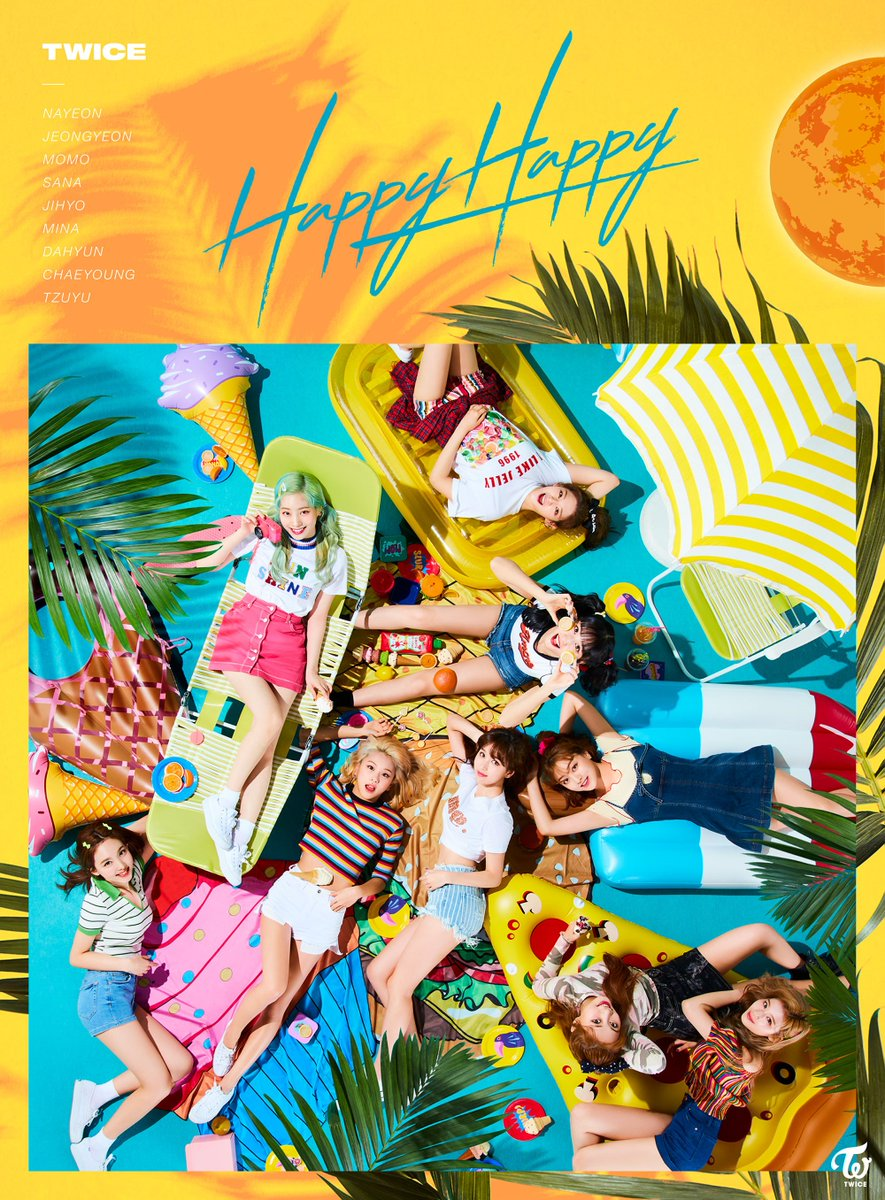 TWICE JAPAN OFFICIAL on Twitter TWICE JAPAN 4th SINGLEHAPPY 885x1200