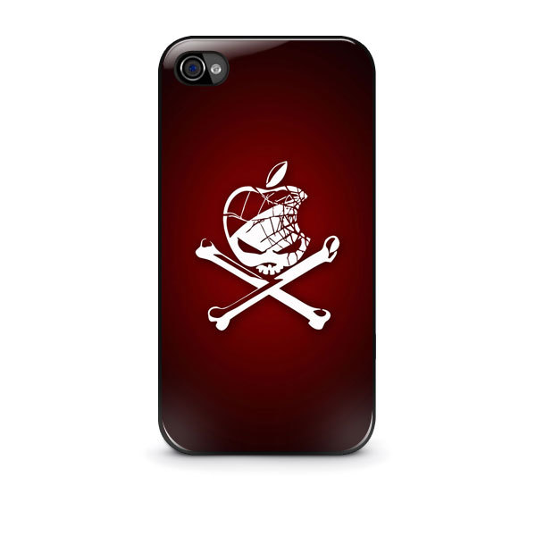 New Custom Apple Skull and Bones logo for Iphone 4 4s 5 5s 5c Case 600x600
