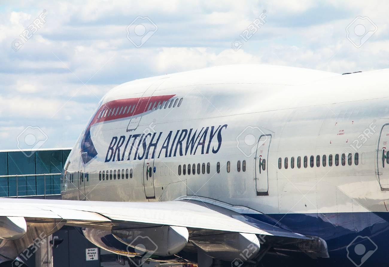British Airway Passenger Jet Airplane Boeing 747 400 In Heathrow 1300x894