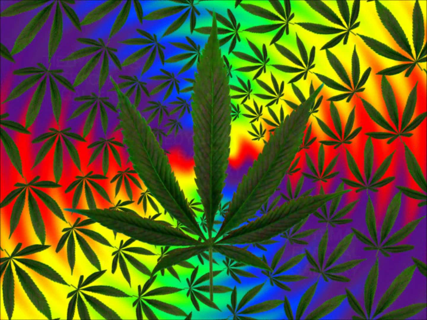 Trippy Pot Leaf Wallpapers - WallpaperSafari
