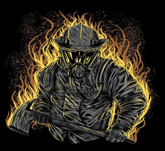 Firefighter wallpaper   ForWallpapercom 662x606