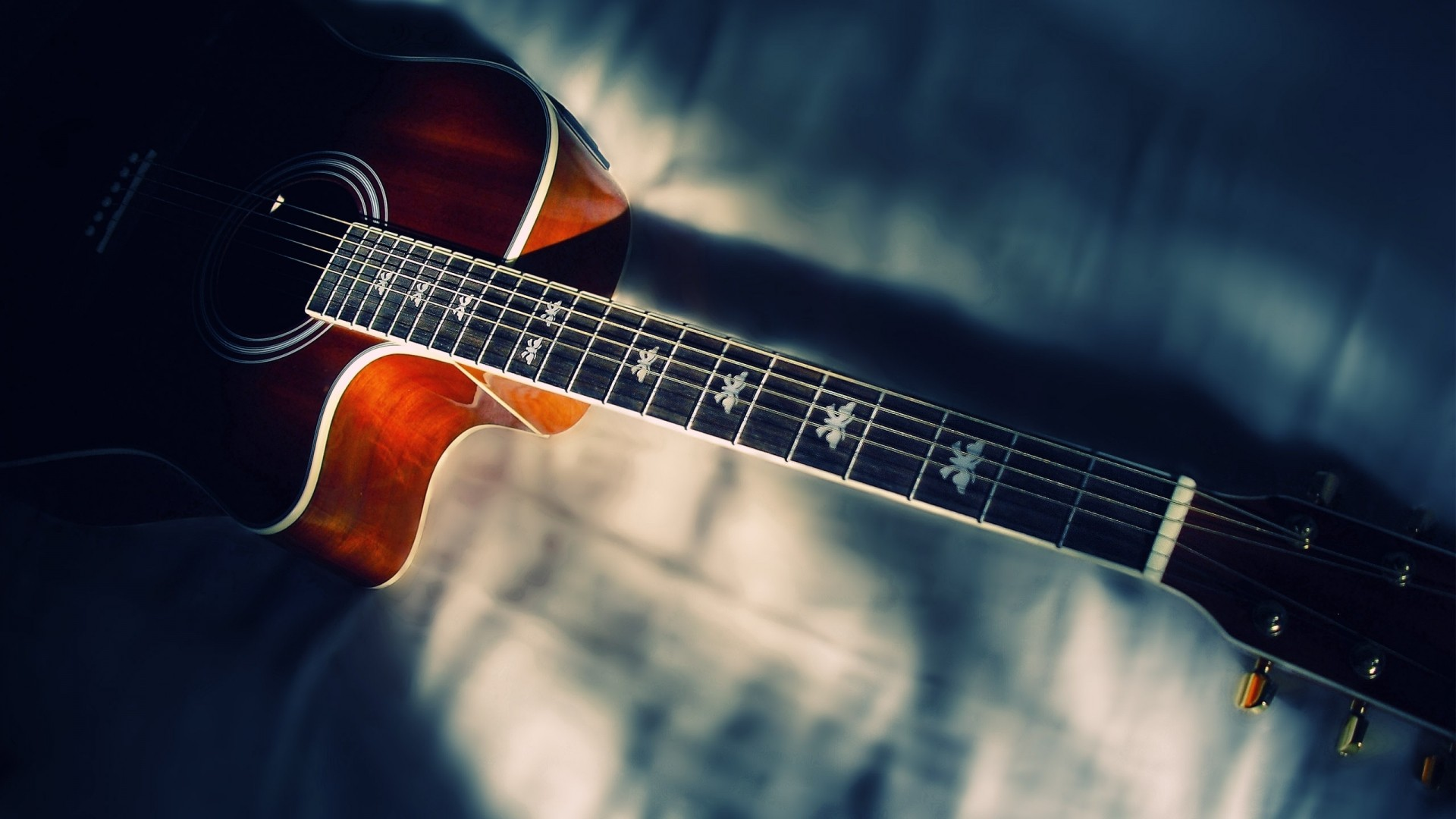 40+] Acoustic Guitar Wallpaper High