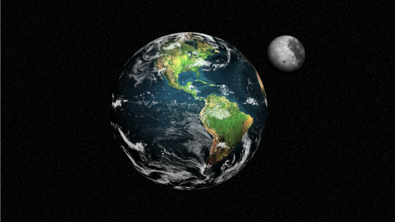3d sub categories space tags earth space 3d planets moon how to set 1366x768