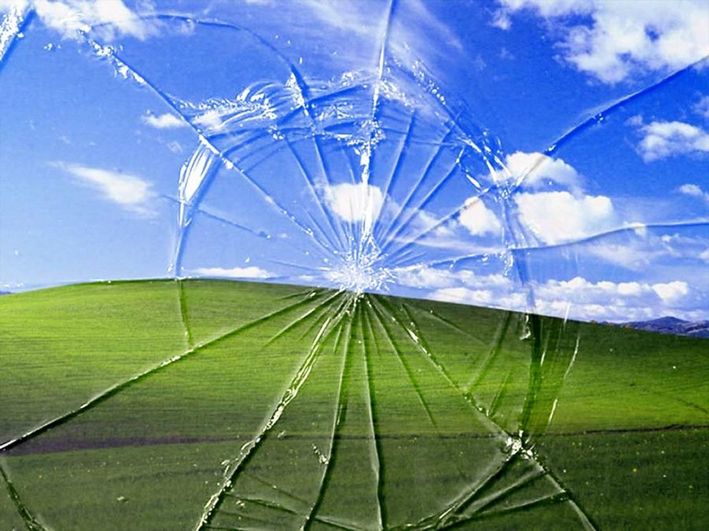 Desktop wallpaper windows xp broken wallpaper 1024x768