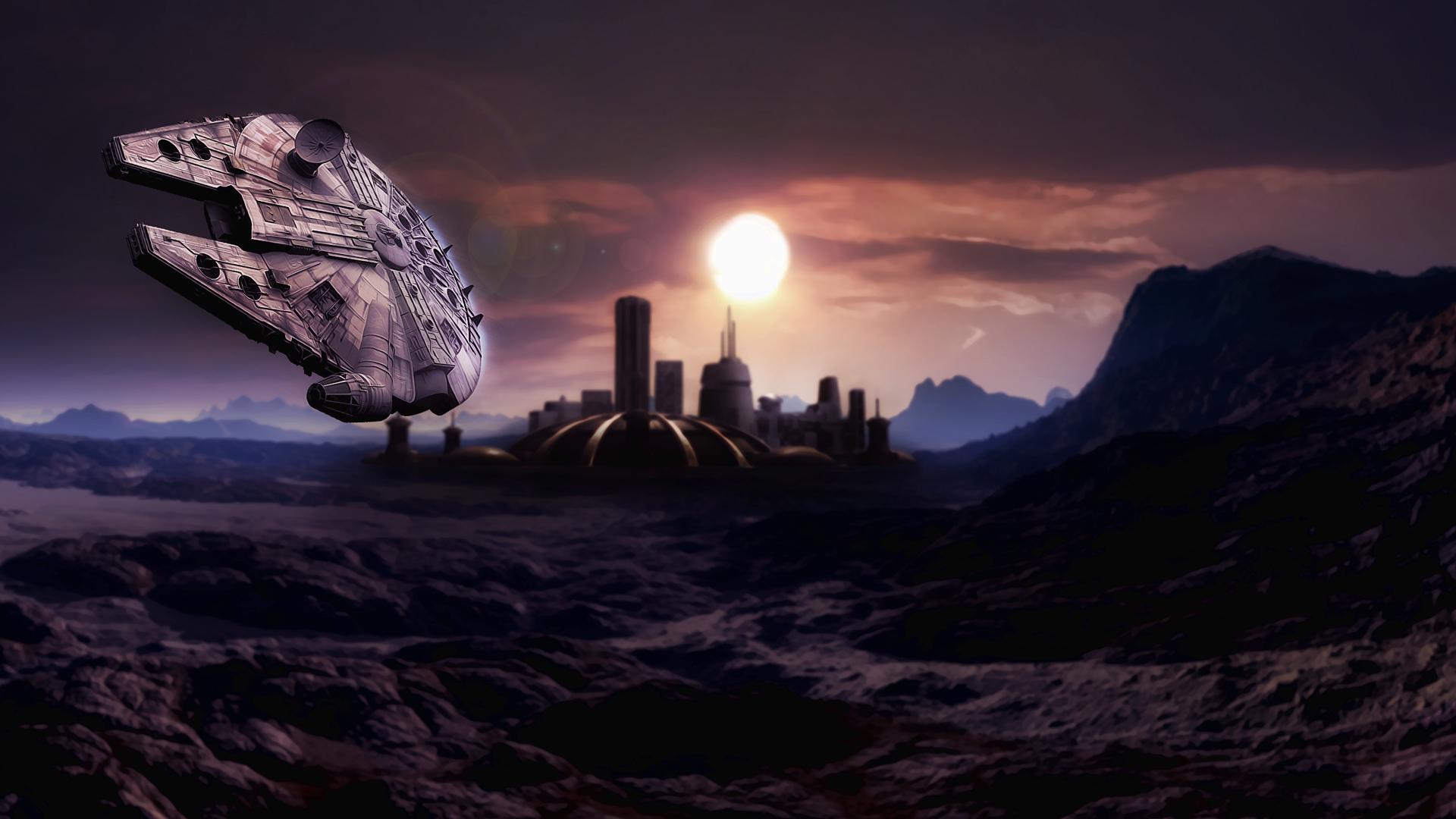 star wars wars cities planets Millennium Falcon Millennium Falcon 1920x1080