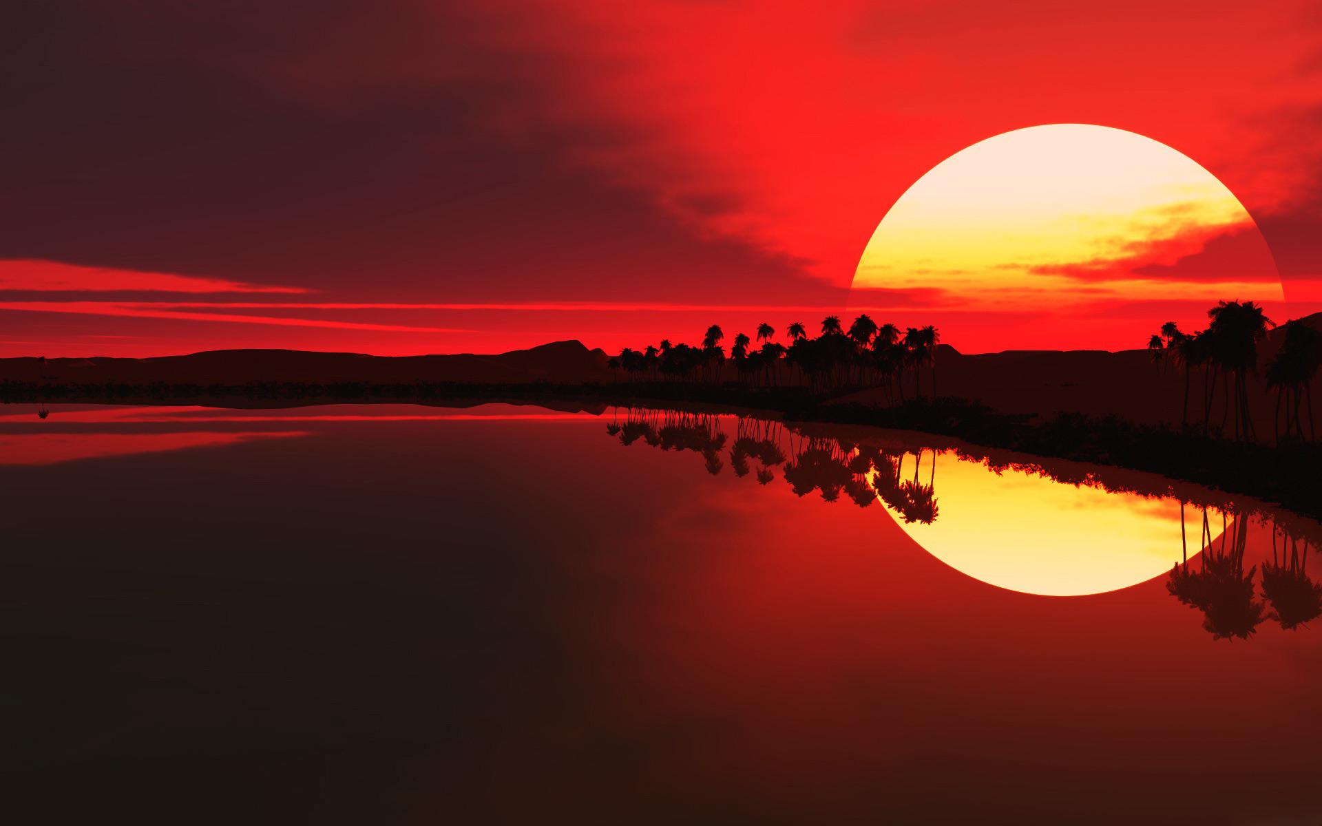 African Sunset Desktop Wallpaper 1920x1200