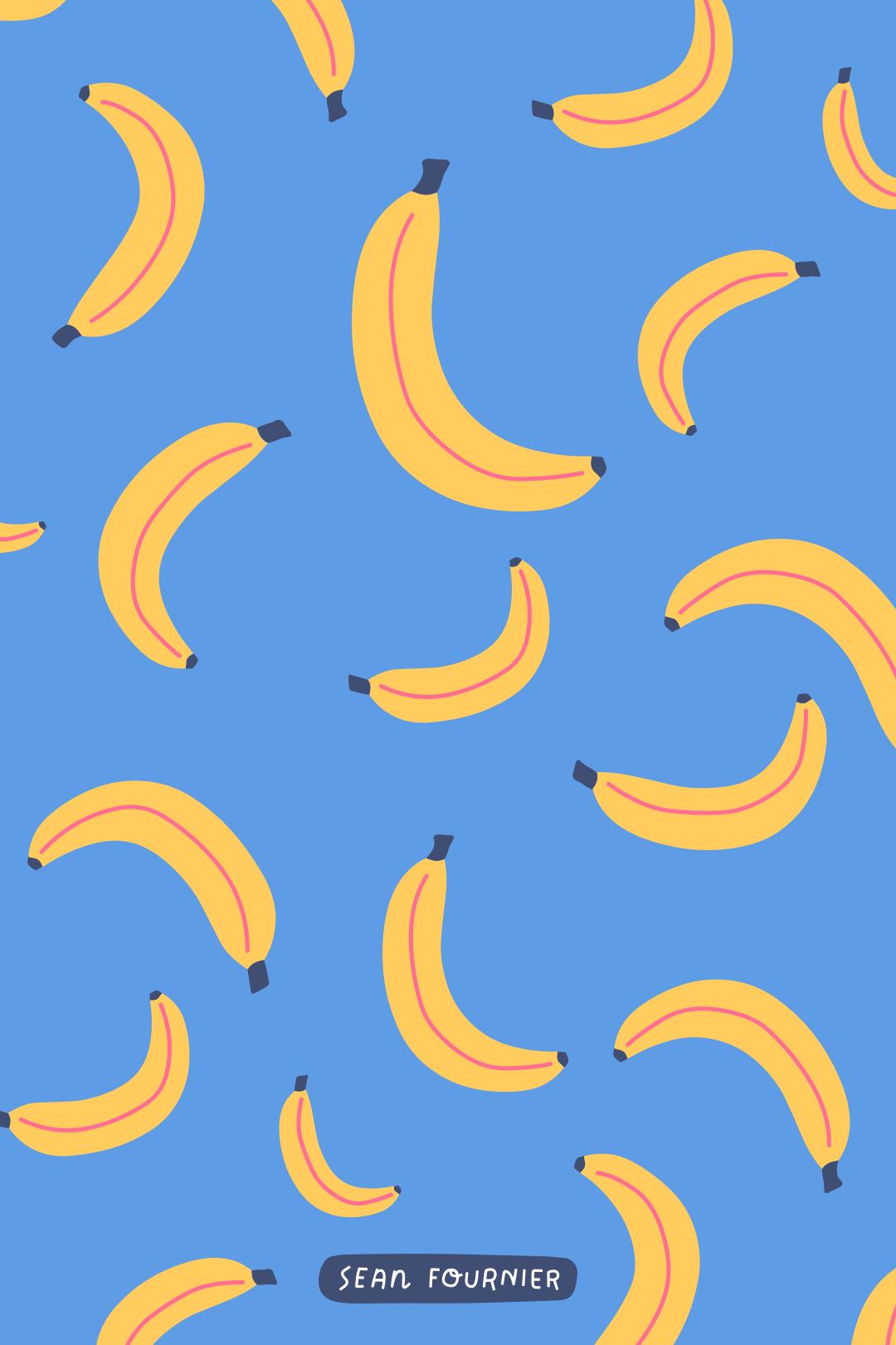 Bananas Vintage flowers wallpaper Cute patterns wallpaper 1080x1620