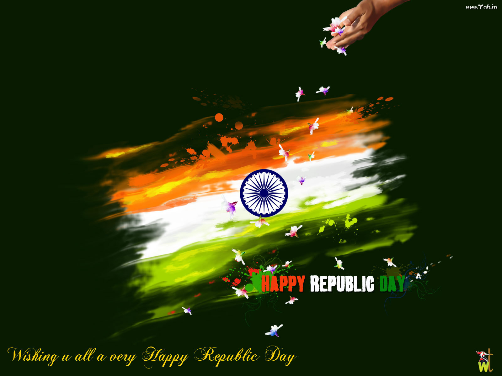 Painting Of Indian Flag WallpaperWallpaper Background Wallpaper 1600x1200