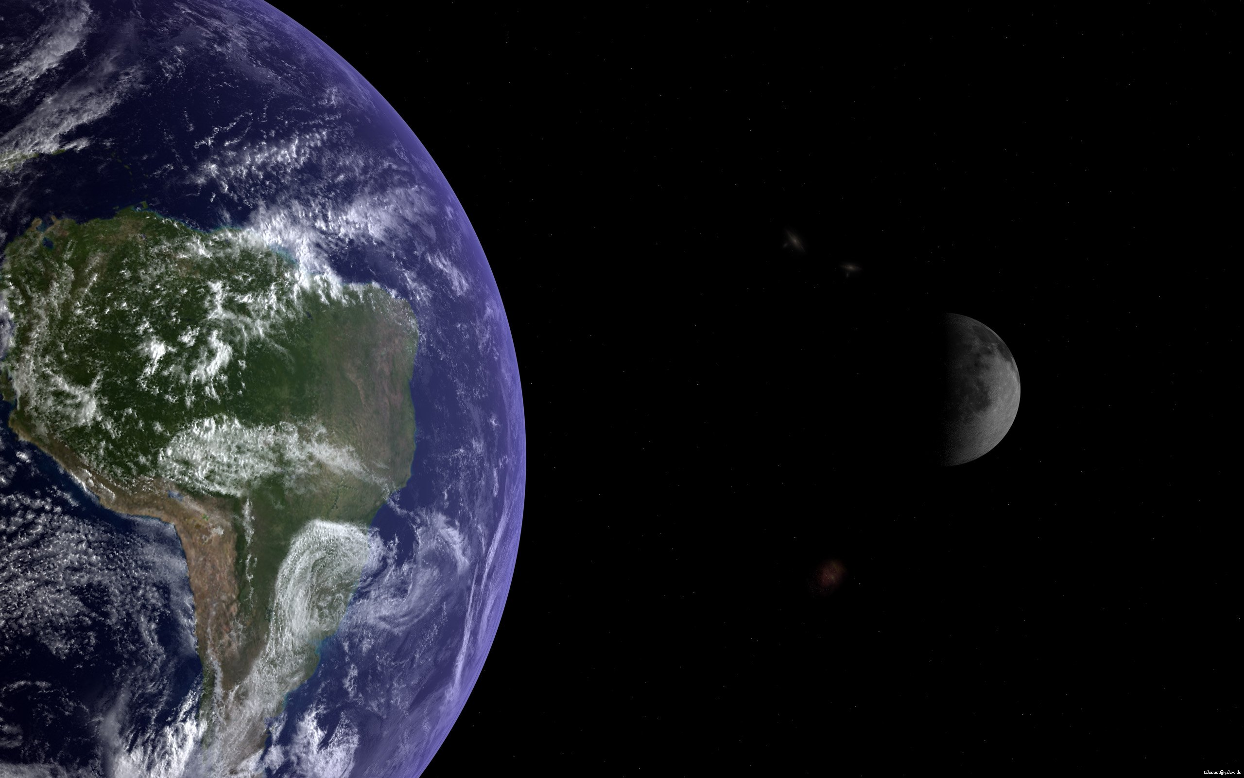 Earth and moon wallpaper Wallpaper Wide HD 2560x1600
