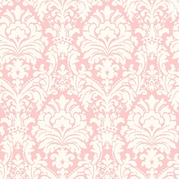 GIR36069 Ginger Pink Brocade Damask Wallpaper Boulevard 600x600