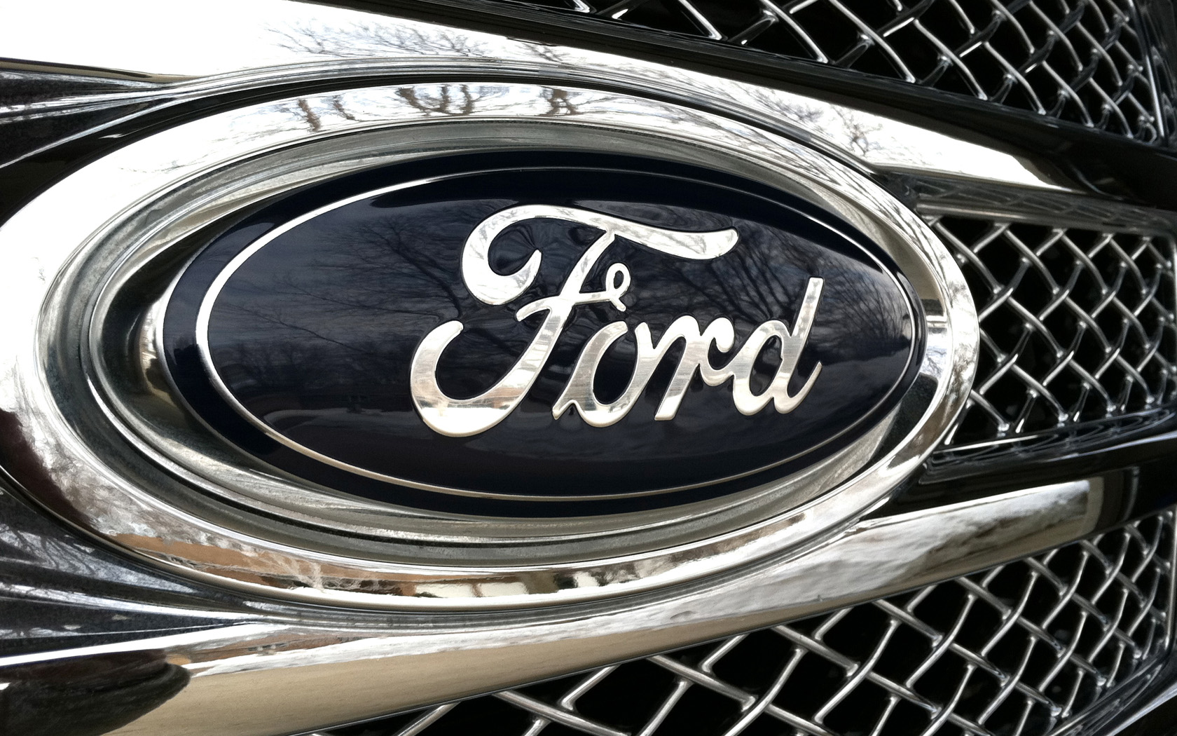 Ford Logo Chrome wallpapers55com   Best Wallpapers for PCs Laptops 1680x1050
