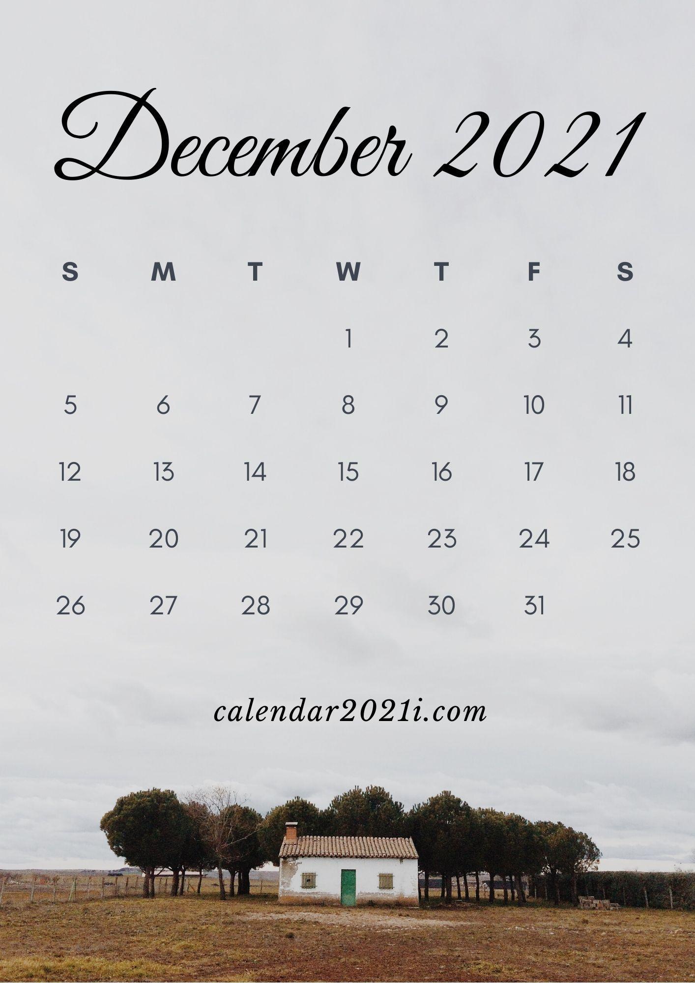 December 2021 Calendar iPhone Wallpaper in High Definition 1414x2000