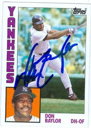 Don Baylor autographed baseball card New York Yankees 358x500