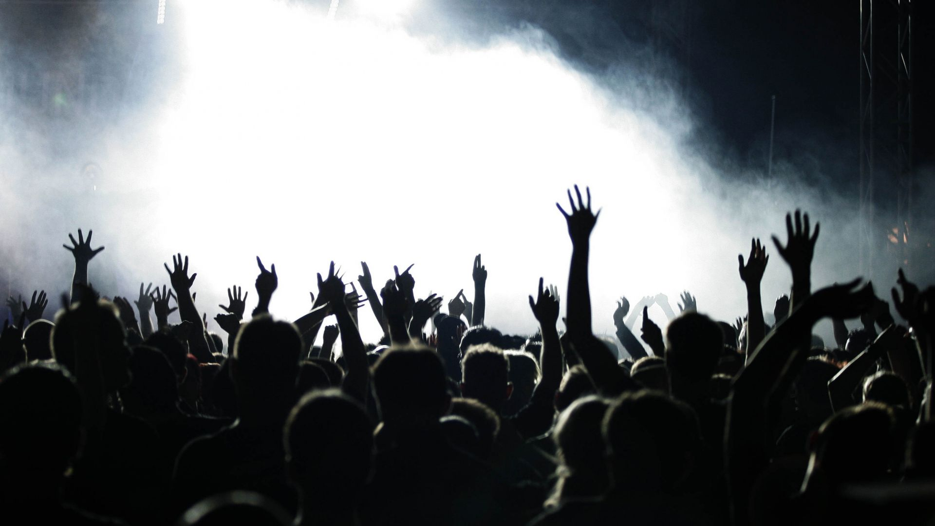 Pin by Steve Pope on Rock Me Silhouette photos Concert crowd 1920x1080