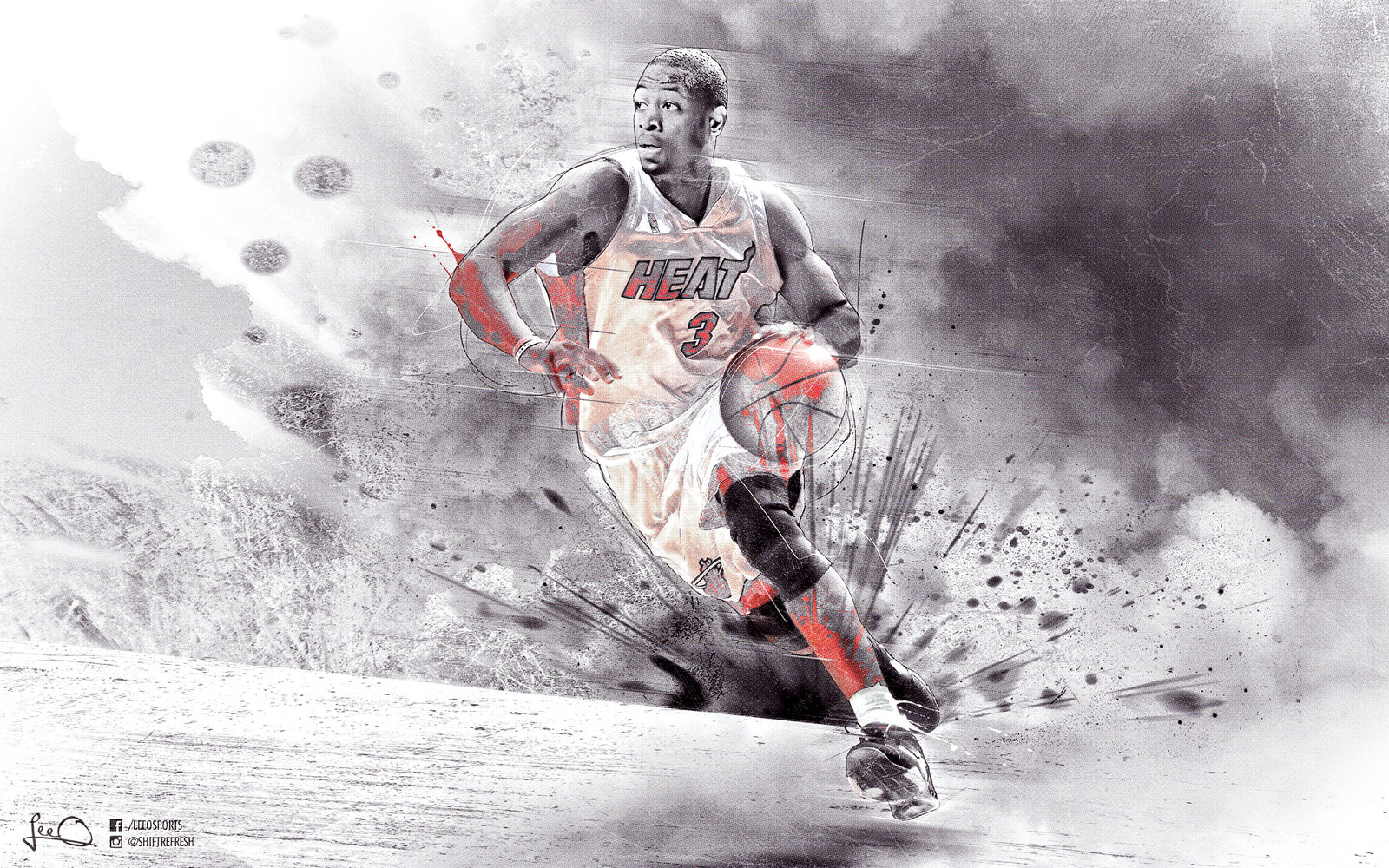 Dwyane Wade Wallpaper by skythlee 1600x1000