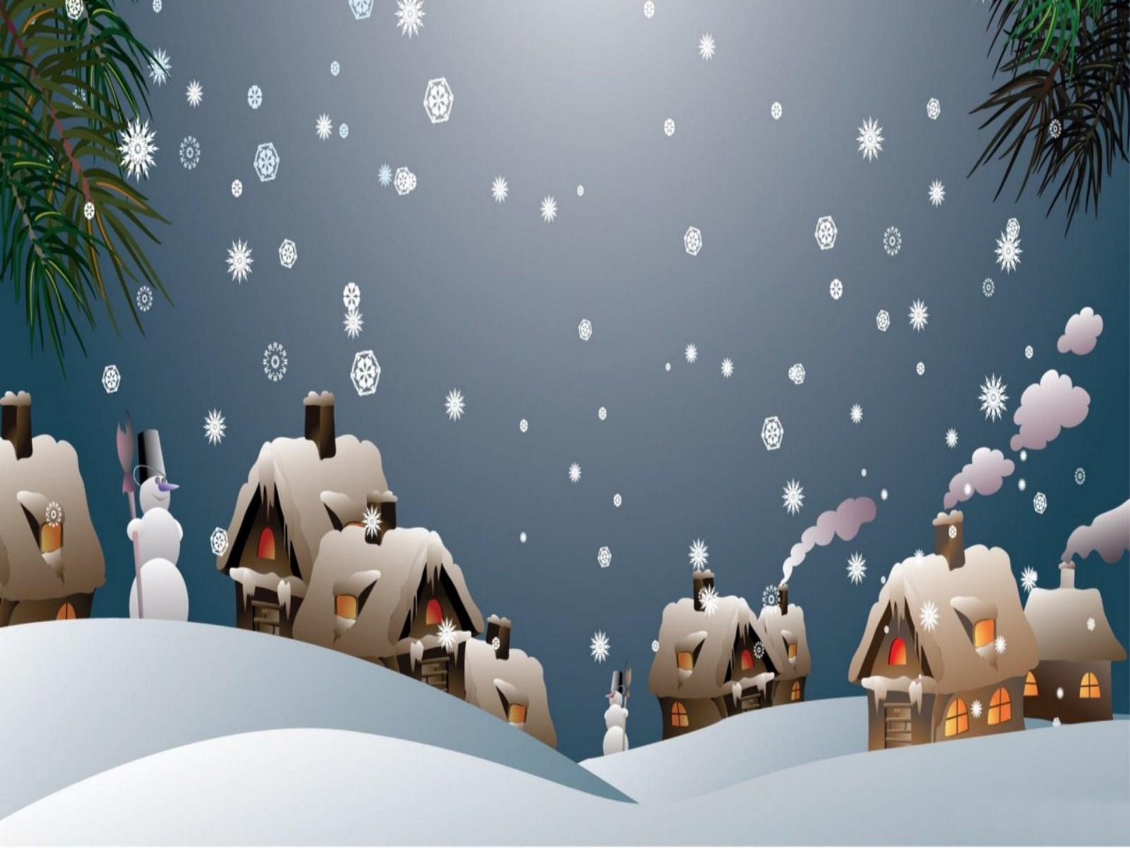 Free Ipad Wallpaper Christmas: Free Animated Snowy Christmas Wallpaper