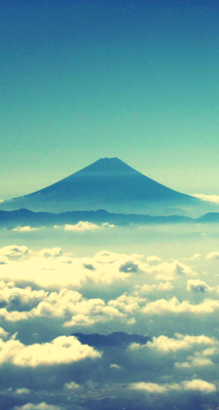 mount fuji iphone wallpaper tags clouds fuji japan mount mountains 744x1392