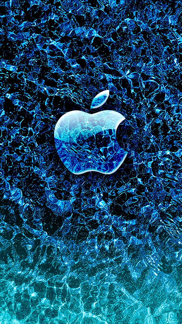 Ice Apple iPhone wallpaper 640x1136