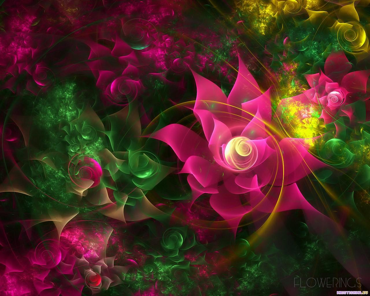 top fractal wallpapers floral - photo #32