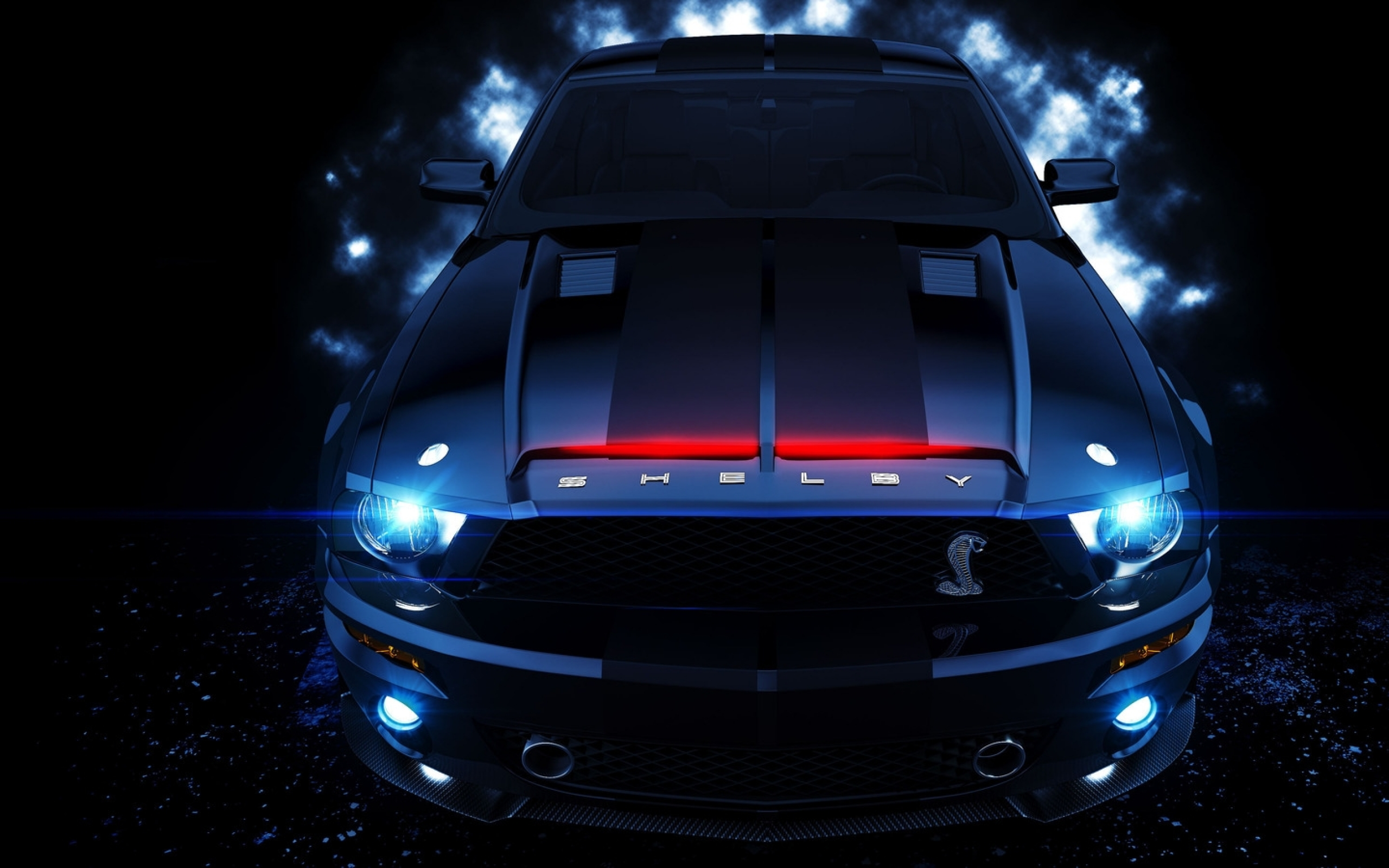 ford mustang knight rider shelby gt500 1600x900 wallpaper download 2560x1600