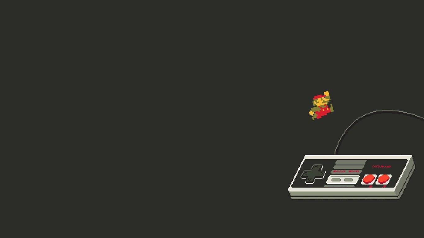 Super Mario Bros gamepad controllers retro games Wallpapers 1366x768