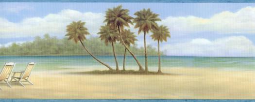 Beach Chair Wallpaper Border   Wallpaper Border Wallpaper inccom 525x211