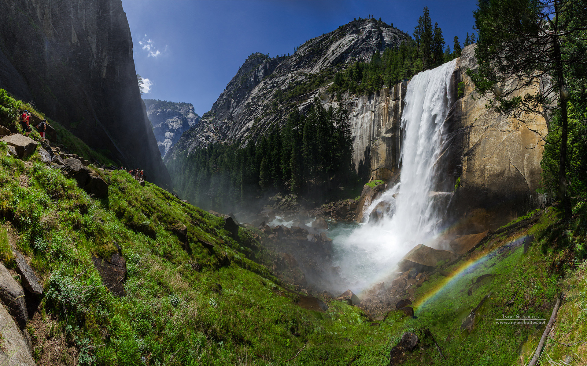Vernal Fall Yosemite National Park Wallpapers HD Wallpapers 1920x1200