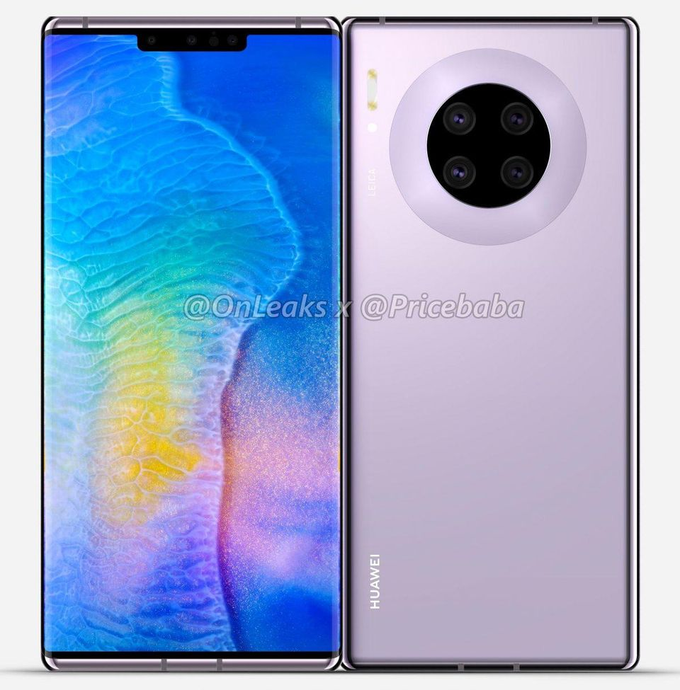 Huawei Mate 30 Pro Leaked Images Show Jaw Dropping Design 960x975