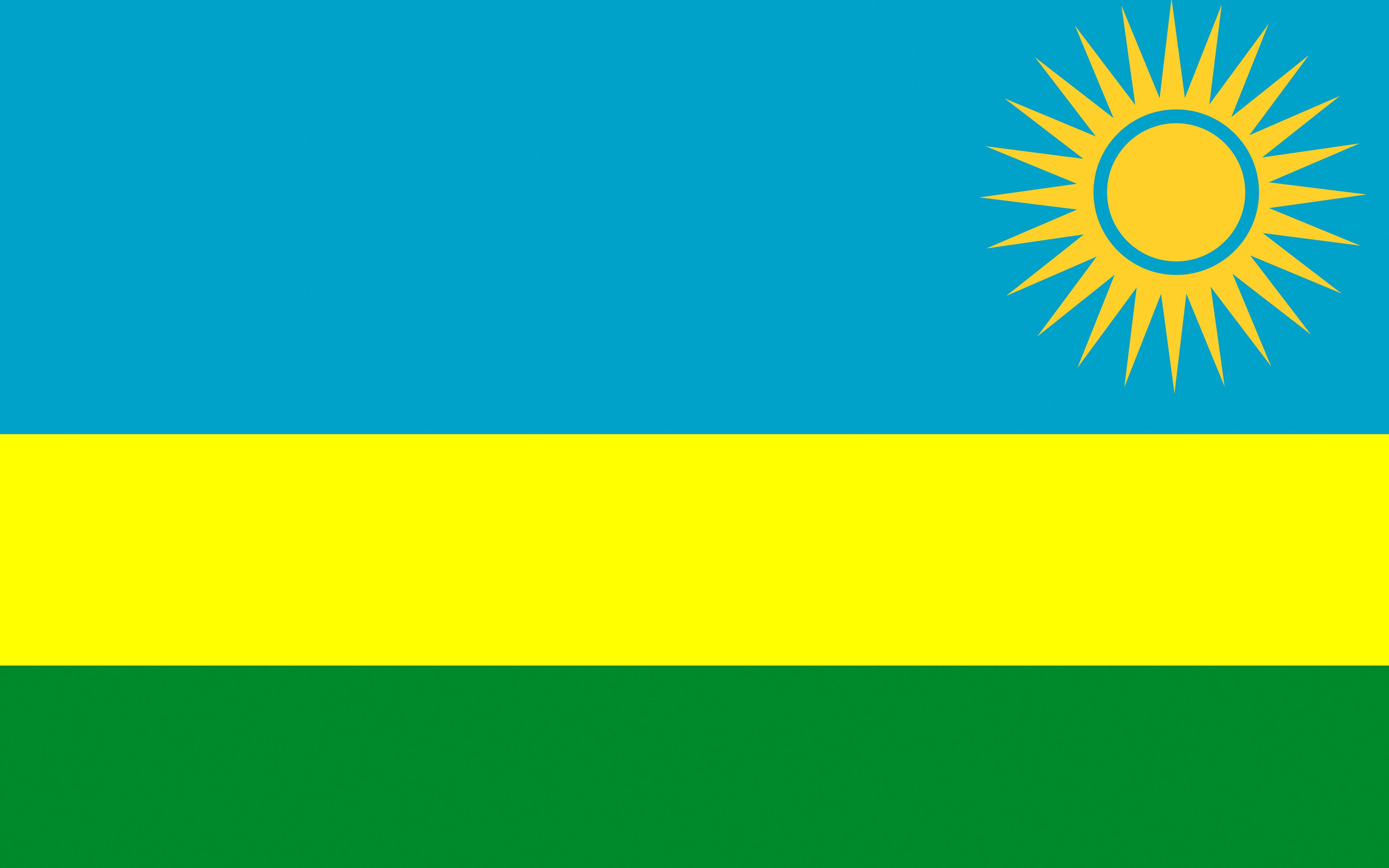 Fondos de Pantalla 3840x2400 Rwanda Bandera Tiras descargar imagenes 3840x2400