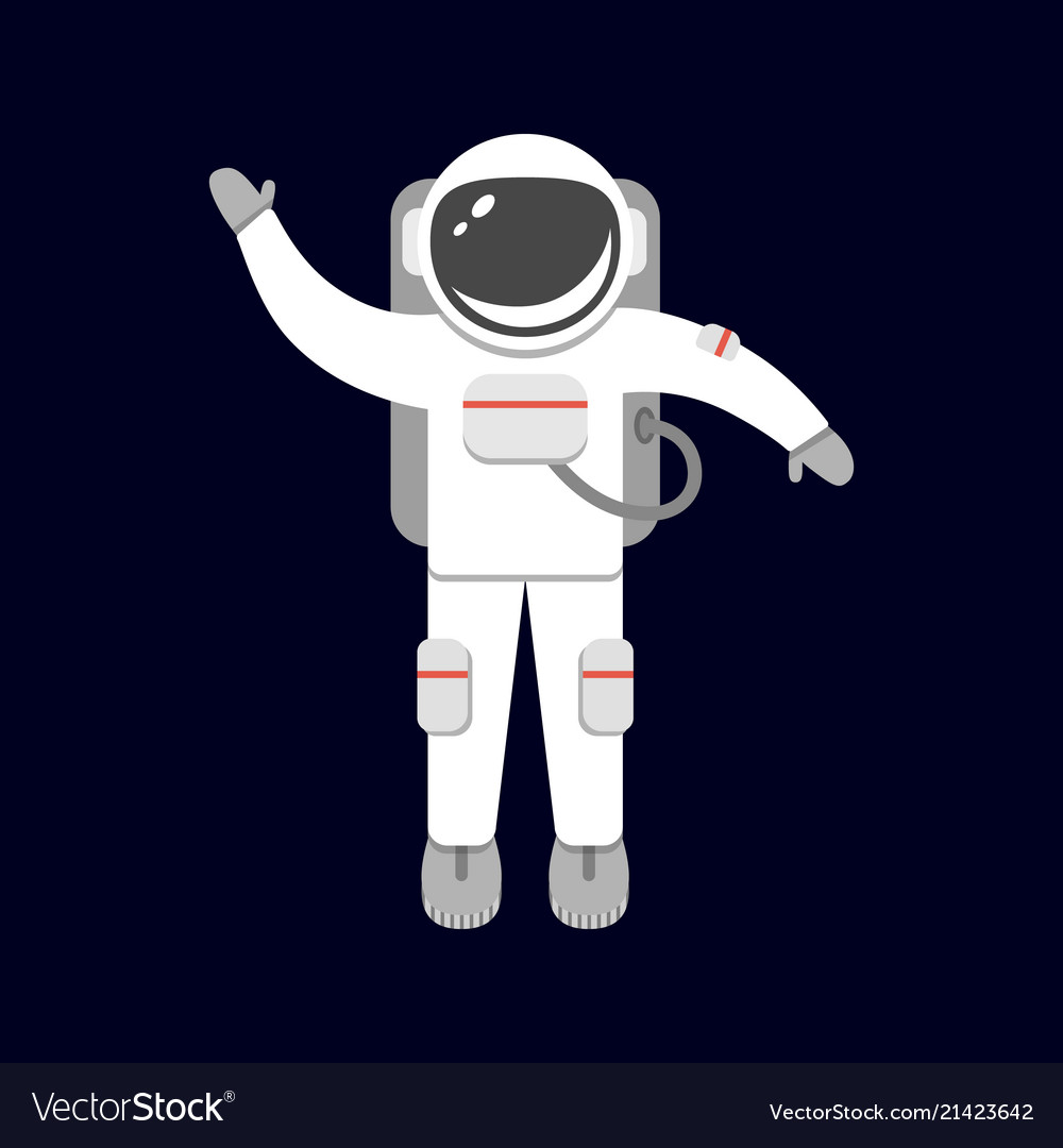 Spaceman isolated on black background astronaut Vector Image 1000x1080