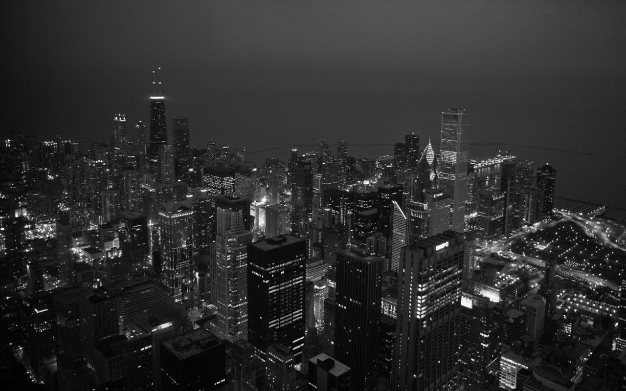 Black and white city Desktop Wallpapers FREE on Latorocom 1280x800