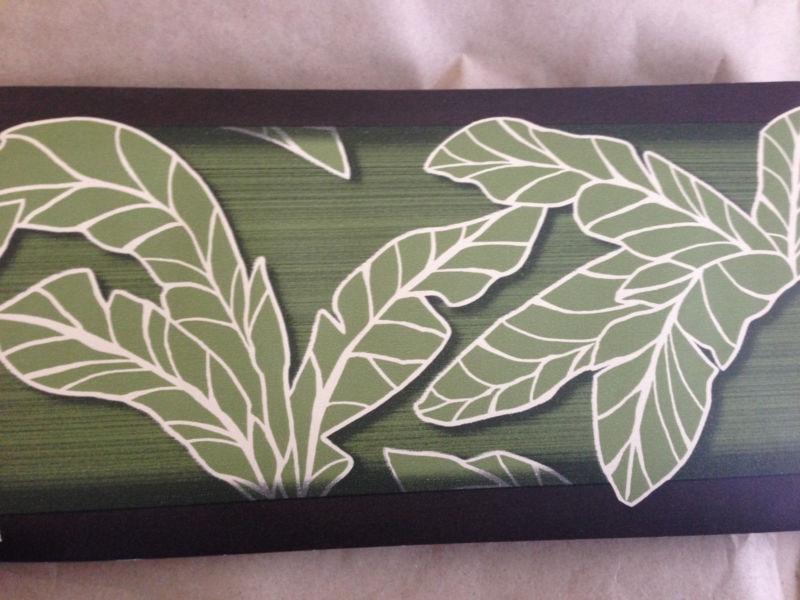 Banana Leaf Brown Green Tropical Palm Theme Wallpaper Wall Border 800x600