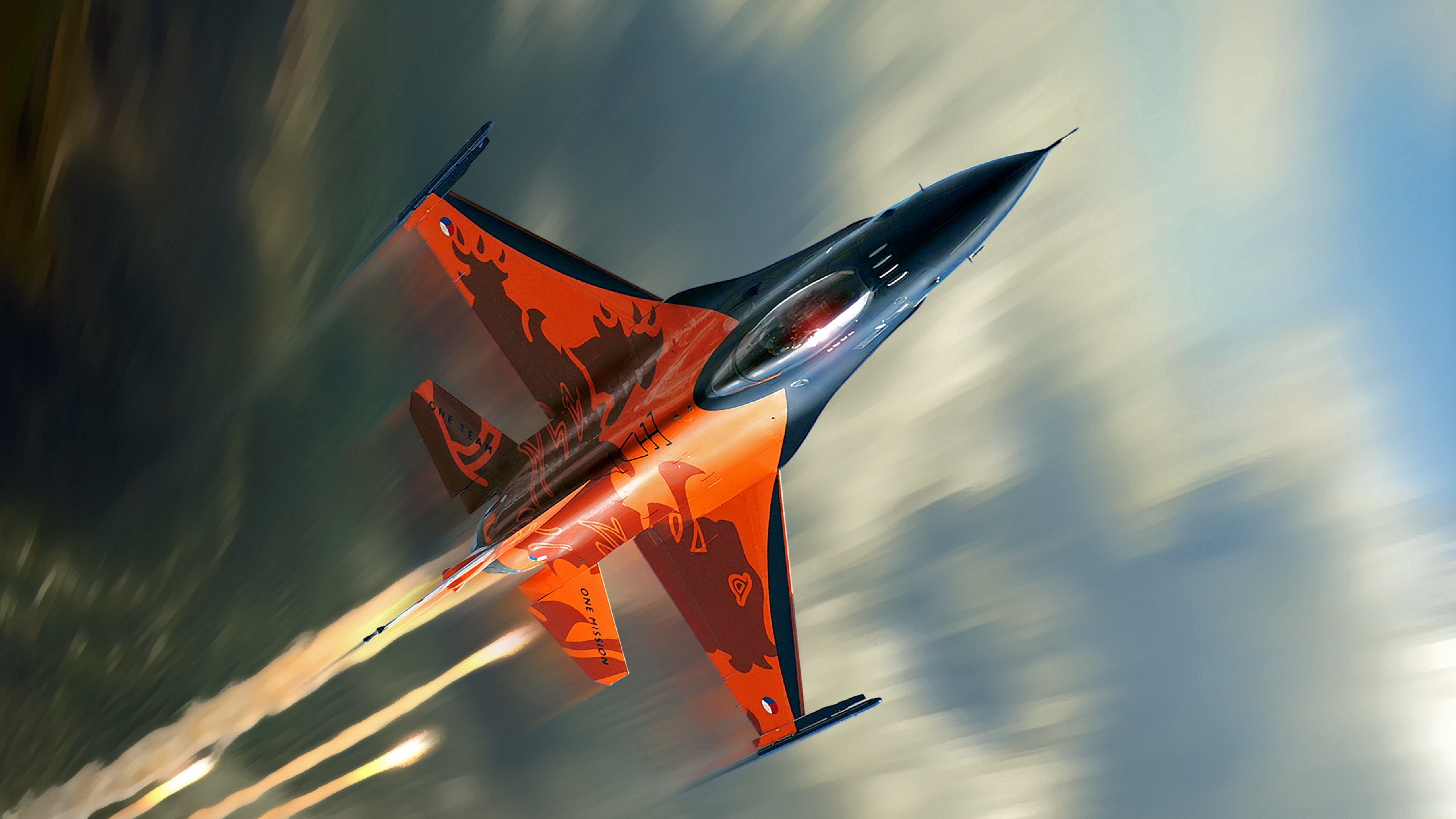 F 16 Falcon Fighter Jet Aircraft Us Air Force Wallpaper Hd For 5120x2880