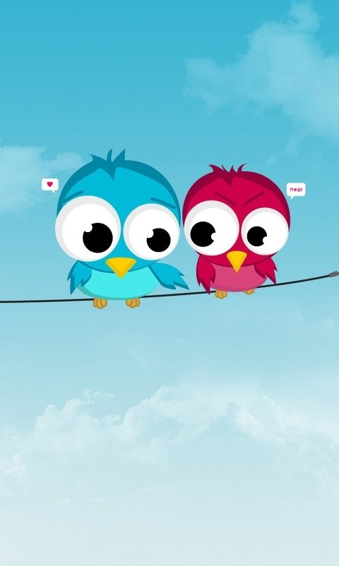 Cute Birds Love Cell Phone Wallpapers 480x800 Hd Wallpaper For Phones 480x800