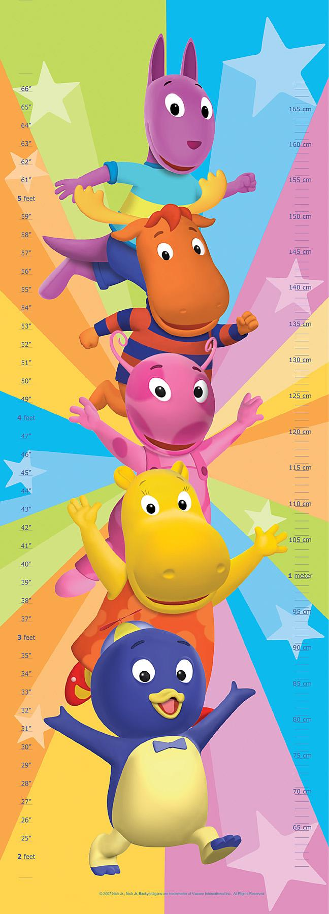 Brewster Wallcovering Backyardigans Growth Mural Wallpaper 648x1800